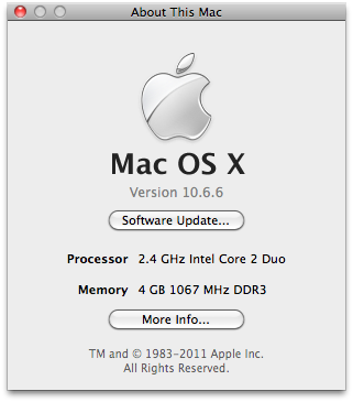 Mac OS X 10.6.6 Updated