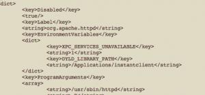 Editing Apache plist File