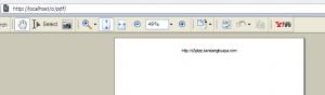 Generate PDF di browser Opera