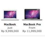 Harga Macbook di Apple Store ID