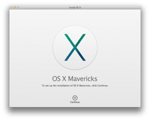 Install OS X Maverick