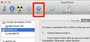 Eject Disk via Disk Utility