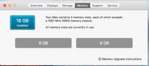 RAM 2 x 8GB